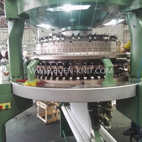 Máquinas circulares de costilla transferida malla jacquard electronica