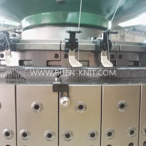 Máquinas circulares para tejido de costilla transferida malla